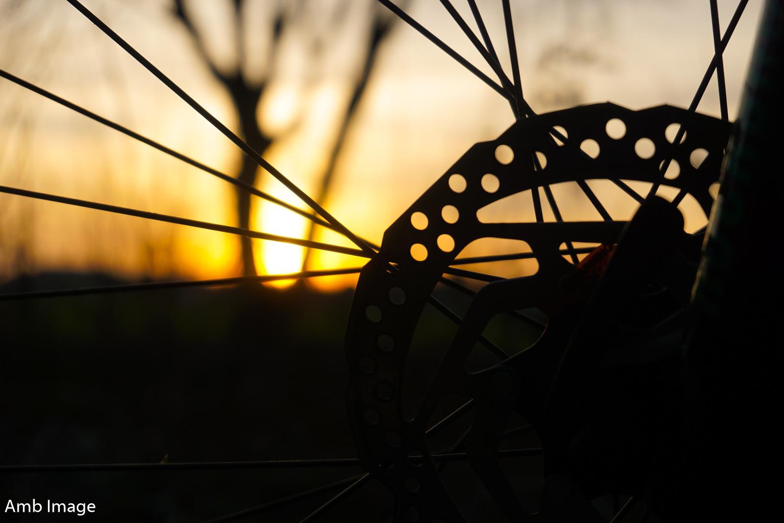 Sonnenuntergang Scheibenbremse
